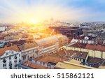 budapesl aerial view  sunrise... | Shutterstock . vector #515862121