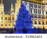 christmas tree in front off... | Shutterstock . vector #515862601