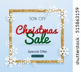 christmas sale banner in a... | Shutterstock .eps vector #515863159