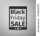 tablet pc with black friday... | Shutterstock . vector #515866291