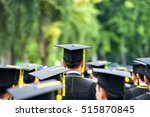 back of graduates during... | Shutterstock . vector #515870845