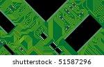 green circuit board vector... | Shutterstock .eps vector #51587296
