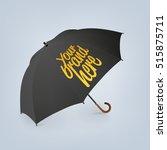 blank classic opened round rain ... | Shutterstock .eps vector #515875711