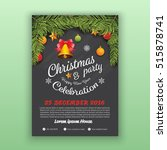 christmas   happy new year... | Shutterstock .eps vector #515878741