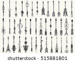 big set of hand drawn tribal... | Shutterstock .eps vector #515881801