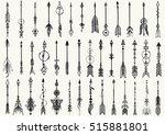 big set of hand drawn tribal...   Shutterstock .eps vector #515881801