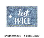 vector jeans tag isolated on a...