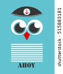 cute boat ahoy greeting card....   Shutterstock .eps vector #515883181