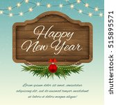 merry christmas wooden sign... | Shutterstock .eps vector #515895571