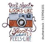 watercolor illustration   retro ... | Shutterstock . vector #515906101