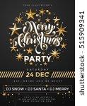 black poster for christmas... | Shutterstock .eps vector #515909341