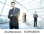 group of young businesspeople... | Shutterstock . vector #515918035