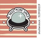 patch cartoon ufo space ship ... | Shutterstock .eps vector #515920219