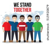 unity  togetherness poster... | Shutterstock .eps vector #515920879