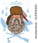 illustration of cartoon trapper ...   Shutterstock .eps vector #515926201