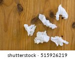 used tissue paper on wood table ... | Shutterstock . vector #515926219