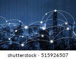 digital cityscape and network...   Shutterstock . vector #515926507