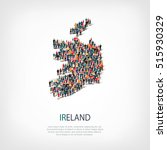 people map country ireland... | Shutterstock .eps vector #515930329