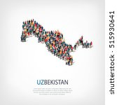 people map country uzbekistan... | Shutterstock .eps vector #515930641