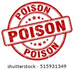 poison stamp.  red round poison ... | Shutterstock .eps vector #515931349