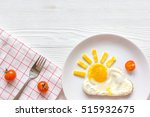 sunshine fried eggs breakfast... | Shutterstock . vector #515932675