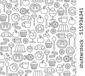 seamless pattern with sweets...   Shutterstock .eps vector #515936341