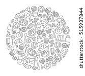 round design element with... | Shutterstock .eps vector #515937844