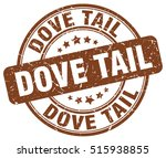 Dove Tail Stamp. Brown Round...
