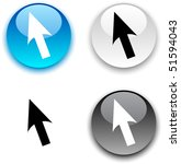cursor glossy round vector... | Shutterstock .eps vector #51594043