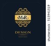 monogram design elements ... | Shutterstock .eps vector #515941519