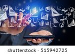 concept view of business on... | Shutterstock . vector #515942725