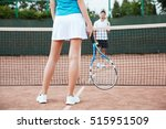 tennis players playing a match... | Shutterstock . vector #515951509