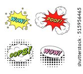 comics style vector stickers... | Shutterstock .eps vector #515956465