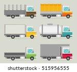 delivery vector transport truck ... | Shutterstock .eps vector #515956555