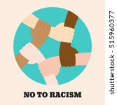 stop racism icon. motivational... | Shutterstock .eps vector #515960377