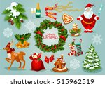 christmas day holiday... | Shutterstock .eps vector #515962519