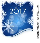 new year on winter blue... | Shutterstock .eps vector #515963821