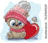 cute cartoon teddy bear in a...   Shutterstock .eps vector #515969029