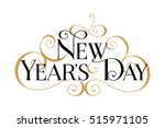 new year's day. handwritten... | Shutterstock .eps vector #515971105