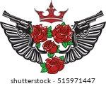 vector illustration of two guns ... | Shutterstock .eps vector #515971447