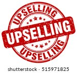 upselling stamp.  red round... | Shutterstock .eps vector #515971825