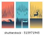 camping  vector flat... | Shutterstock .eps vector #515971945