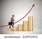 side view of businessman with a ... | Shutterstock . vector #515972371