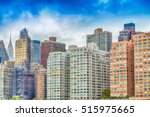 buildings of manhattan as seen... | Shutterstock . vector #515975665