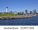 long beach lighthouse  harbour  ... | Shutterstock . vector #515977345