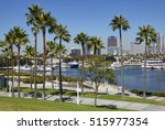 harbour and marina in long... | Shutterstock . vector #515977354