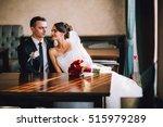 luxury wedding couple holding... | Shutterstock . vector #515979289