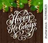 vector set of holidays... | Shutterstock .eps vector #515980825
