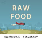"""plane with smoke letters """"raw... 