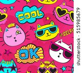 seamless pattern with patch... | Shutterstock .eps vector #515985679